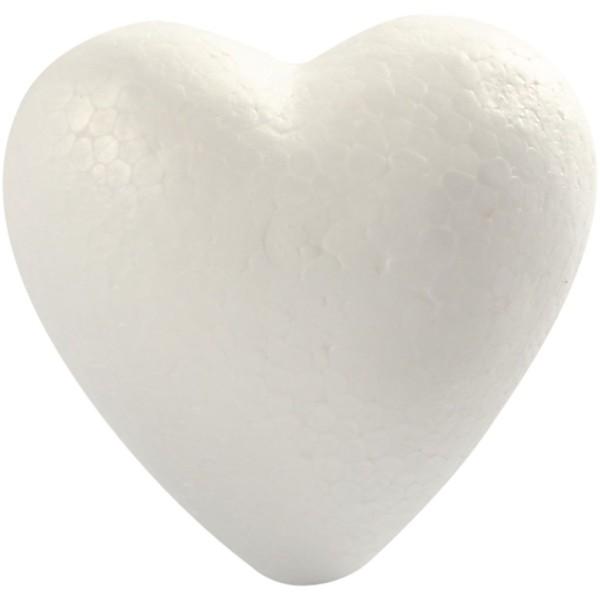 Lot de Coeurs en polystyrène à décorer   8 cm - 5 pcs - Photo n°1
