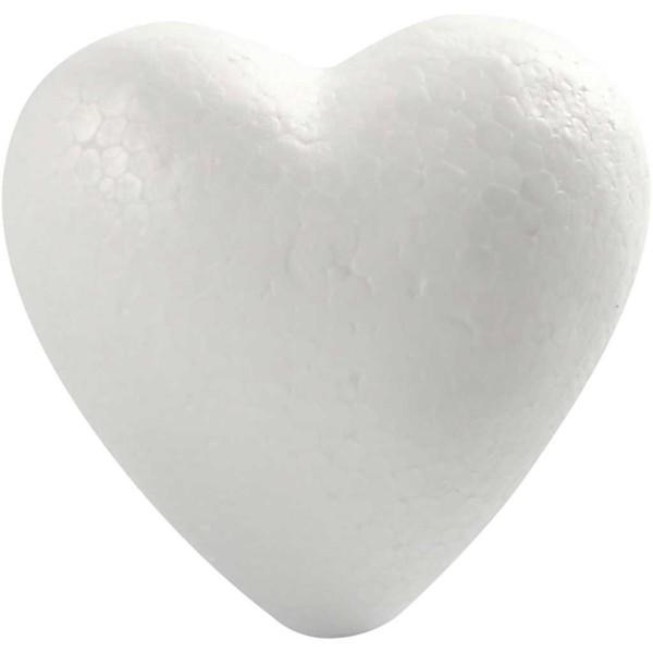 Lot de Coeurs en polystyrène à décorer   8 cm - 50 pcs - Photo n°1