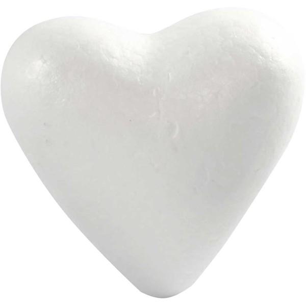 Lot de coeurs en polystyrène à décorer - 11 cm - 25 pcs - Photo n°1