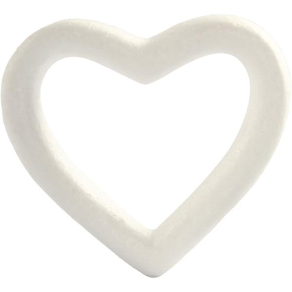 Coeur en polystyrène 13,5 cm - Photo n°1