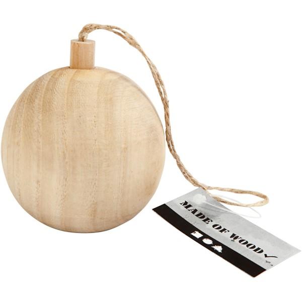 Boule de Noël en bois à décorer - 6,4 cm - Photo n°2