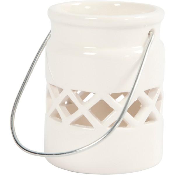Lanterne en porcelaine - 8 cm - Photo n°1