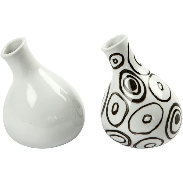 Vases, H: 14 Cm, Blanc, 6Pièces - Photo n°2