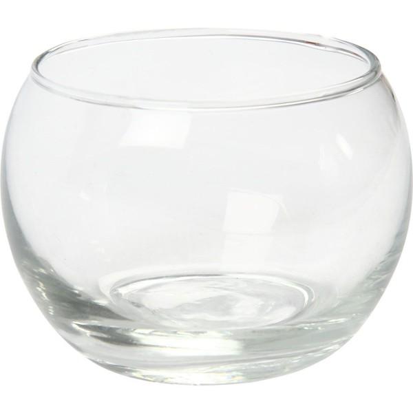 Photophores en verre - 8 x 7 cm - 12 pcs - Photo n°1
