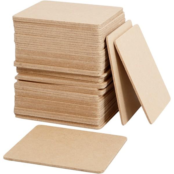 Lot de dessous de plats en bois à décorer - 10 x 10 - 50 pcs - Photo n°1