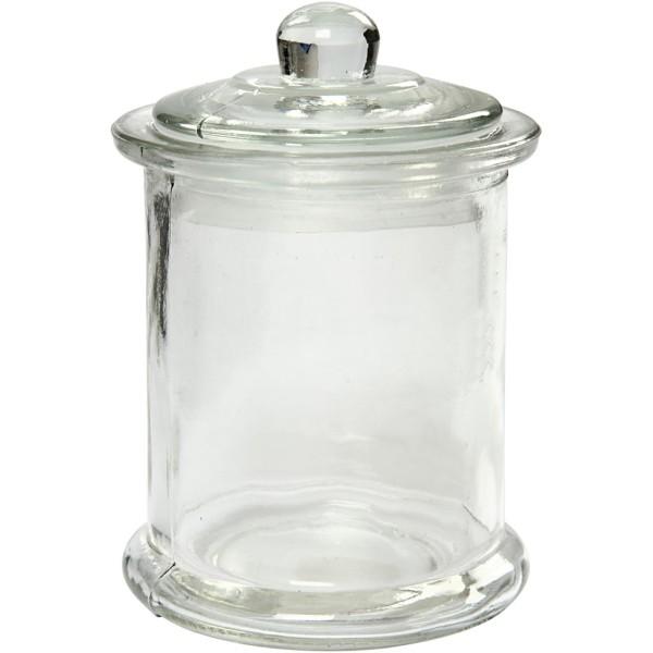 Bocaux en verre avec couvercle - 8 x 14,5 cm - 10 pcs - Photo n°1
