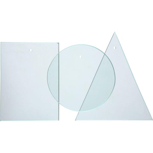 Pendentifs Plaques de verre - Carré - 8 x 6 cm - 10 pcs - Photo n°2