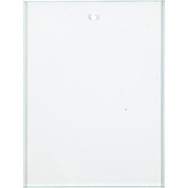 Pendentifs Plaques de verre - Carré - 8 x 6 cm - 10 pcs - Photo n°1