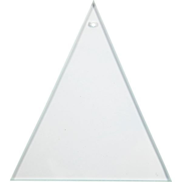 Pendentifs Plaques de verre - Triangulaire - 8 x 9 cm - 10 pcs - Photo n°1
