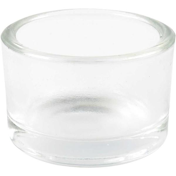 Photophores en verre - 5 x 3,2 cm - 48 pcs - Photo n°1