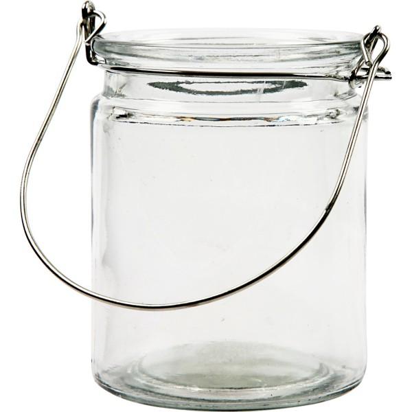Lanterne en verre - 10 cm - Photo n°1