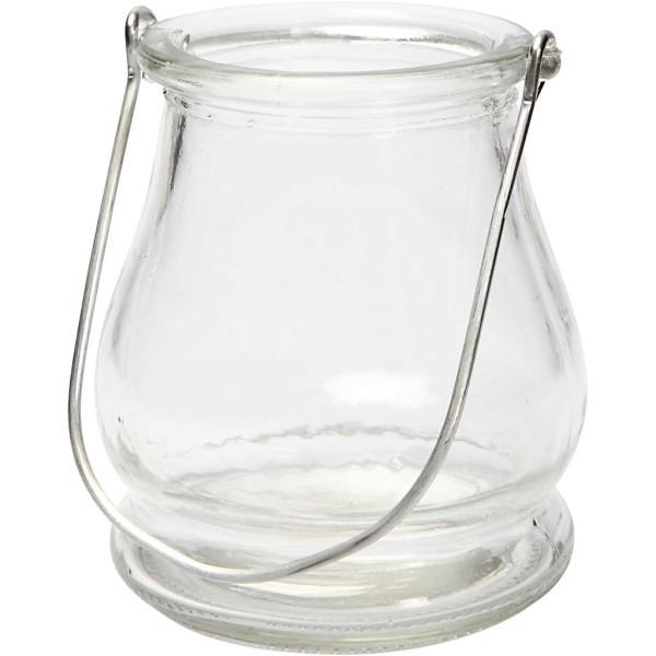 Lanterne arrondie en verre - 9 cm - Photo n°1