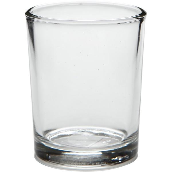Lot de 4 bougeoirs en verre - 6,5 cm - Photo n°1