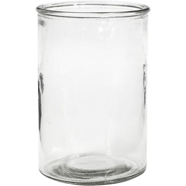 Bougeoir en verre - 10 x 14,5 cm - 6 pcs - Photo n°1