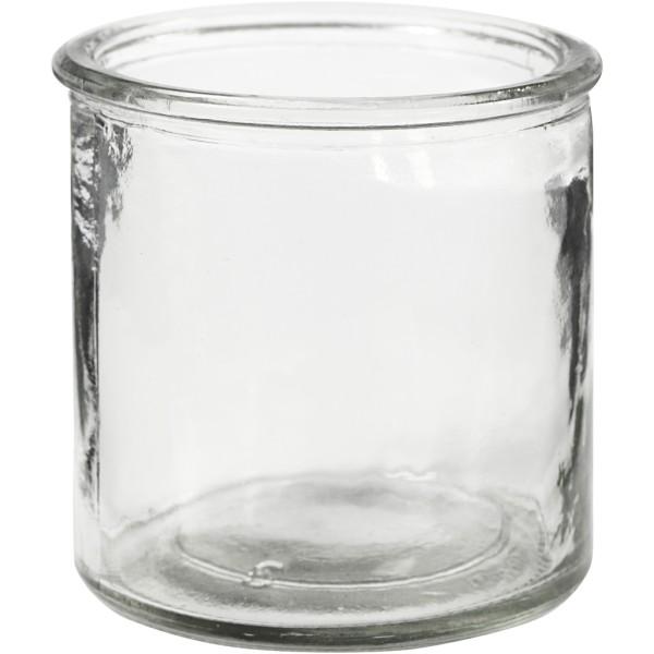 Bougeoir en verre - 7,8 x 7,8 cm - 6 pcs - Photo n°1