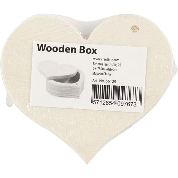 Boîte en bois coeur à décorer - 9 x 4 cm - 1 pce - Photo n°2