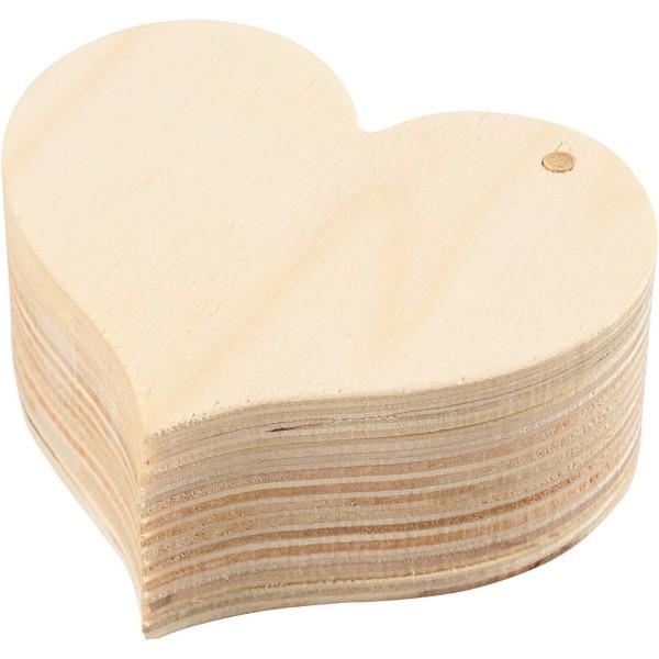 Boîte en bois coeur à décorer - 9 x 4 cm - 1 pce - Photo n°4