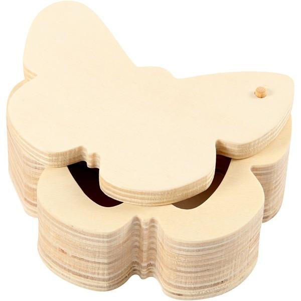Boîte en bois Papillon à décorer - 10 x 4 cm - 1 pce - Photo n°1