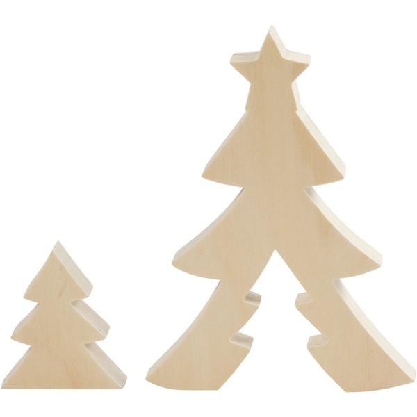 Forme en bois à décorer 2 en 1 - Sapin - 20 cm - Photo n°1