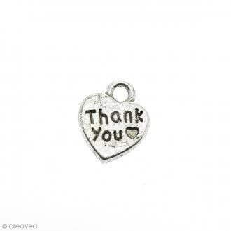 Breloque Coeur Thank You