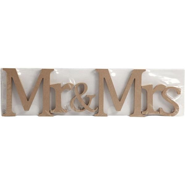 Lettres en bois - Mr & Mrs - 13 x 1,5 cm - Photo n°2
