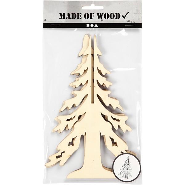 Sapin 3D en bois à monter et décorer - 20 cm - Photo n°2
