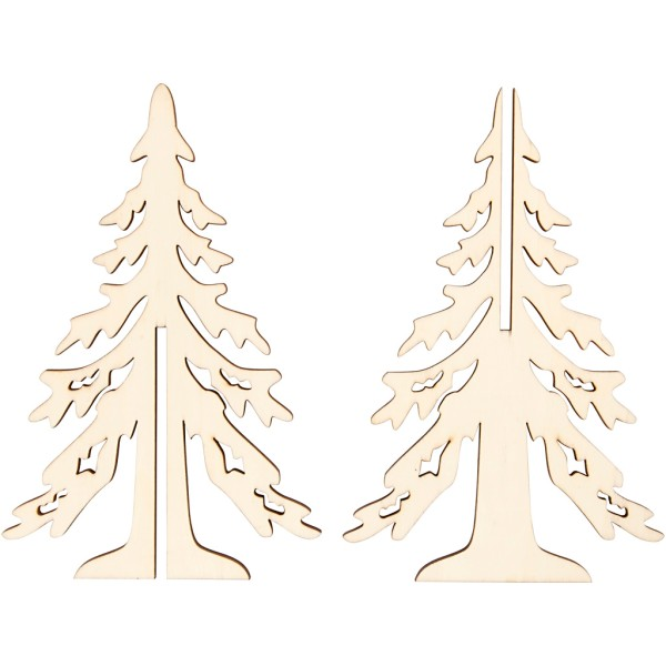 Sapin 3D en bois à monter et décorer - 20 cm - Photo n°3