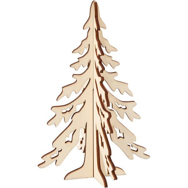 Sapin 3D en bois à monter et décorer - 20 cm - Photo n°1