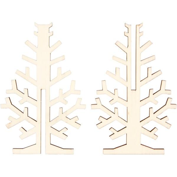 Sapin 3D en bois à monter et décorer - 12 cm - Photo n°3