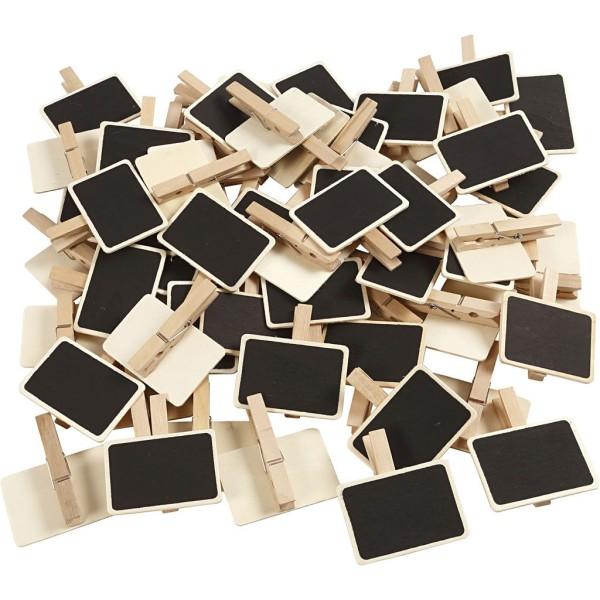 Pince à linge ardoise - 7 x 4,5 cm - 100 pcs - Photo n°1