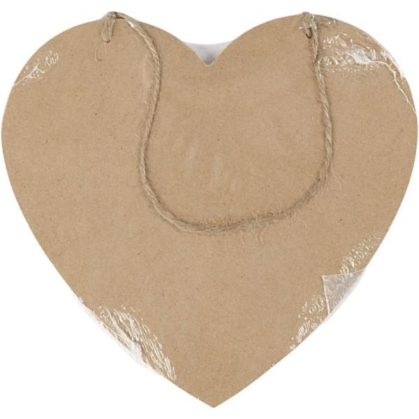 Panneau coeur en bois à décorer - 18,5 x 19,5 cm - Photo n°2