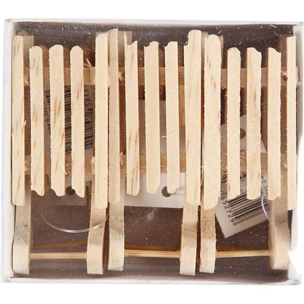 Luges en bois à décorer - 2,5 x 6,5 cm - 6 pcs - Photo n°2