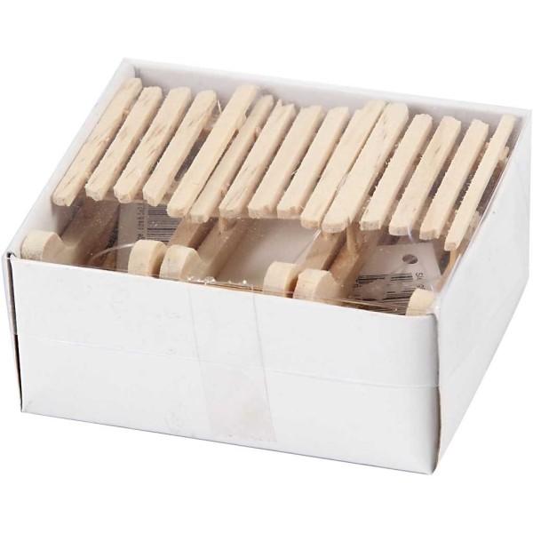 Luges en bois à décorer - 2,5 x 6,5 cm - 6 pcs - Photo n°3