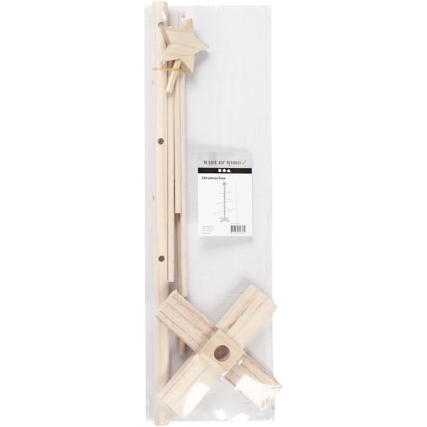 Sapin 3D en bois à monter - 40,5 x 60 cm - Photo n°2