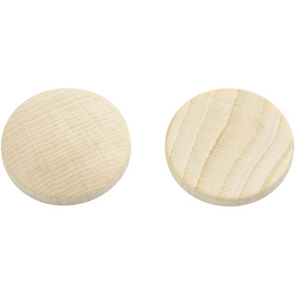 Mini rondelle de bois - 25 x 5 mm - 15 pcs - Photo n°1