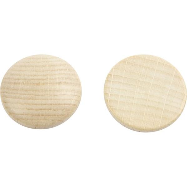 Mini rondelle de bois - 30 x 5 mm - 15 pcs - Photo n°1
