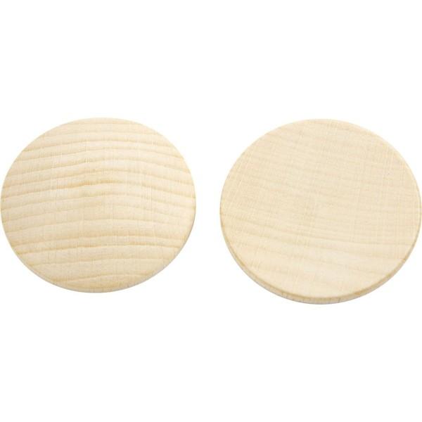 Mini rondelle de bois - 40 x 5,2 mm - 100 pcs - Photo n°1