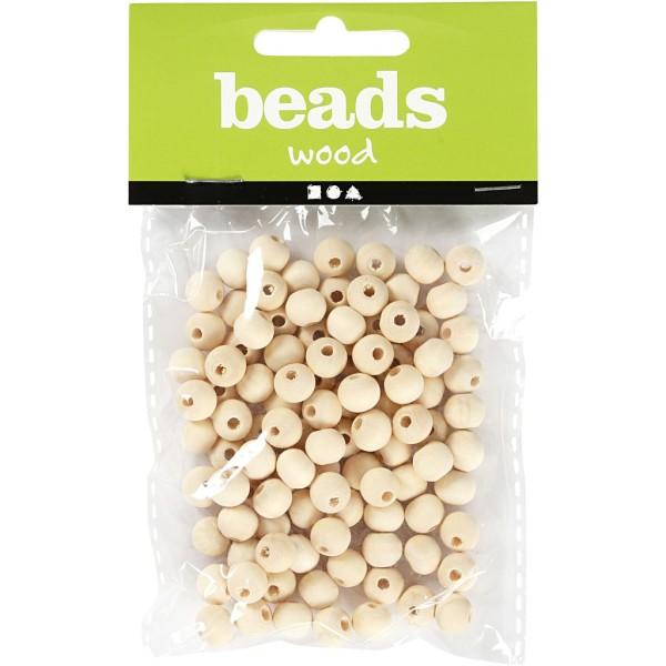 Perles en bois Lilas de Perse - 8 mm - 100 pcs - Photo n°2