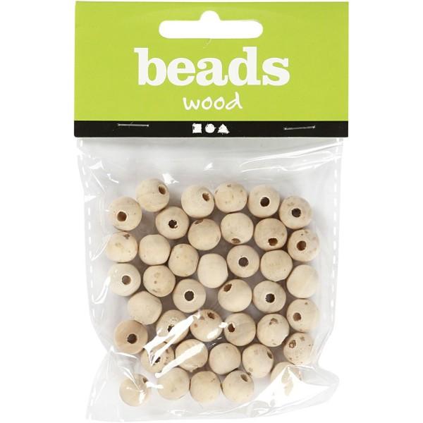 Perles en bois Lilas de Perse - 10 mm - 40 pcs - Photo n°2