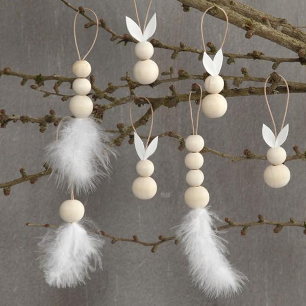 Perles en bois Lilas de Perse - 15 mm - 20 pcs - Photo n°4
