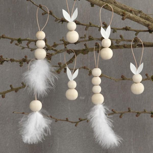 Perles en bois Lilas de Perse - 20 mm - 14 pcs - Photo n°5