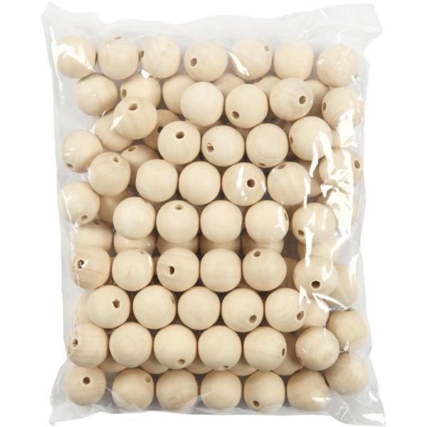 Perles en bois Lilas de Perse - 25 mm - 100 pcs - Photo n°2