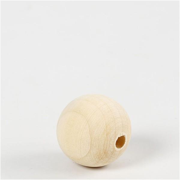 Perles en bois Lilas de Perse - 25 mm - 100 pcs - Photo n°3