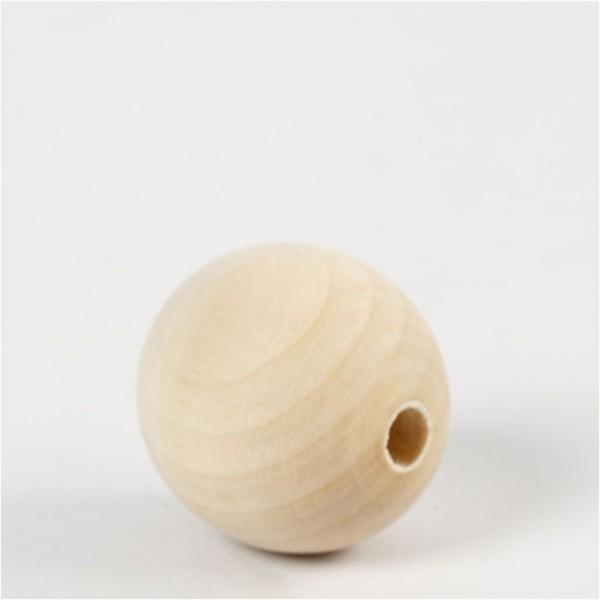 Perles en bois - 30 mm - 4 pcs - Photo n°2