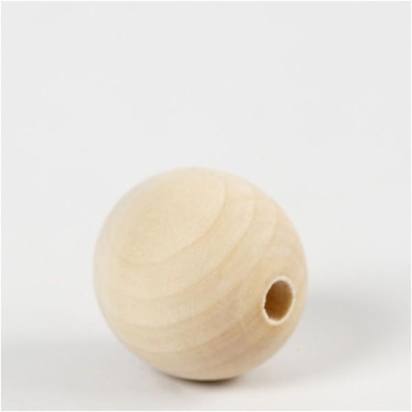 Perles en bois Lilas de Perse - 30 mm - 50 pcs - Photo n°2