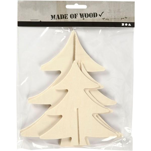 Sapin 3D en bois à monter et décorer - 13 et 18 cm - 2 pcs - Photo n°2