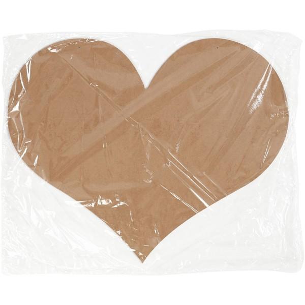 Coeur géant en bois à décorer avec trous - 50 x 40 cm - Photo n°2