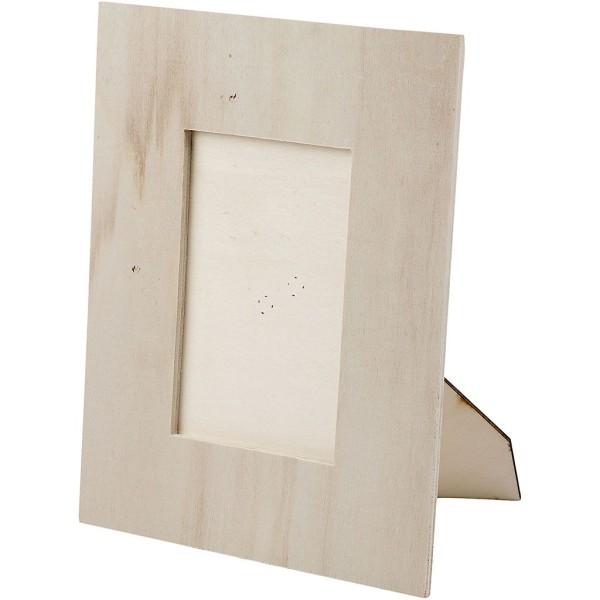 Cadre photo en bois à décorer - 20 x 16 cm - Photo n°2