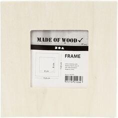 Cadre photo en bois à décorer - 15,8 x 15,8 cm