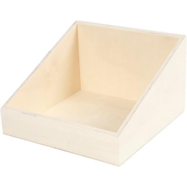 Boîte d'affichage en bois - 19,5 x 12 x 19,5 cm - Photo n°1
